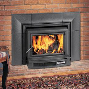 wood burning fireplace inserts firebox heat efficient