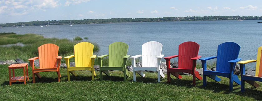 Malibu Hyannis Polyethylene Adirondak Chairs Recycled Plastic - Malibu outdoor furniture