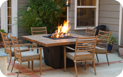 $250 off American Fyre Designs Round, Square or Rectangle Reclaimed Wood Cosmo Fire Table
