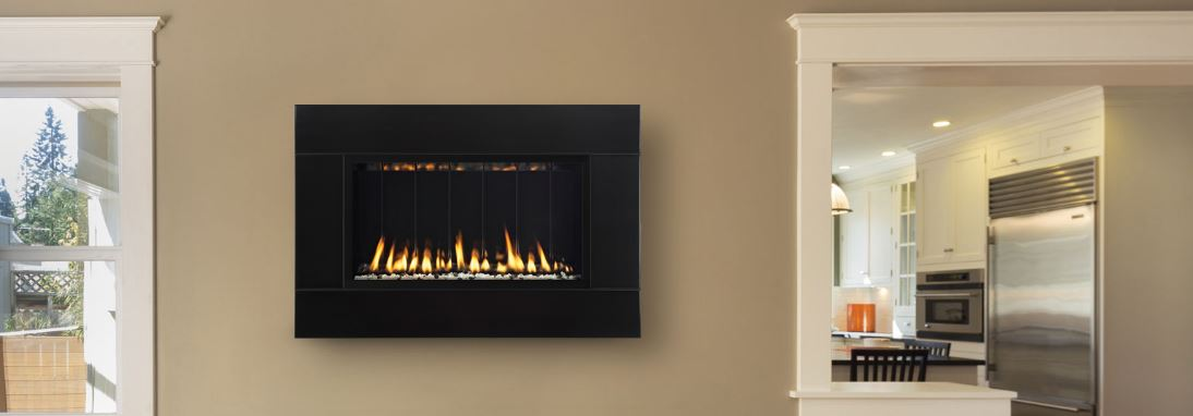 West Sport in Sudbury, MA wall mounted gas fireplace