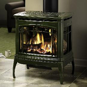 Hearthstone Gas Burning Stove, Boston - Vented, Vent Free Gas ...