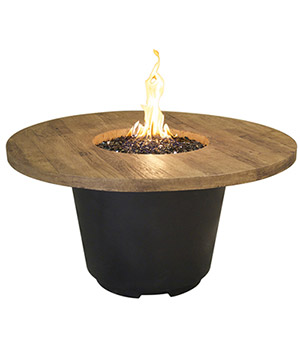 Cosmopolitan Round Firetable - French Barrel Oak