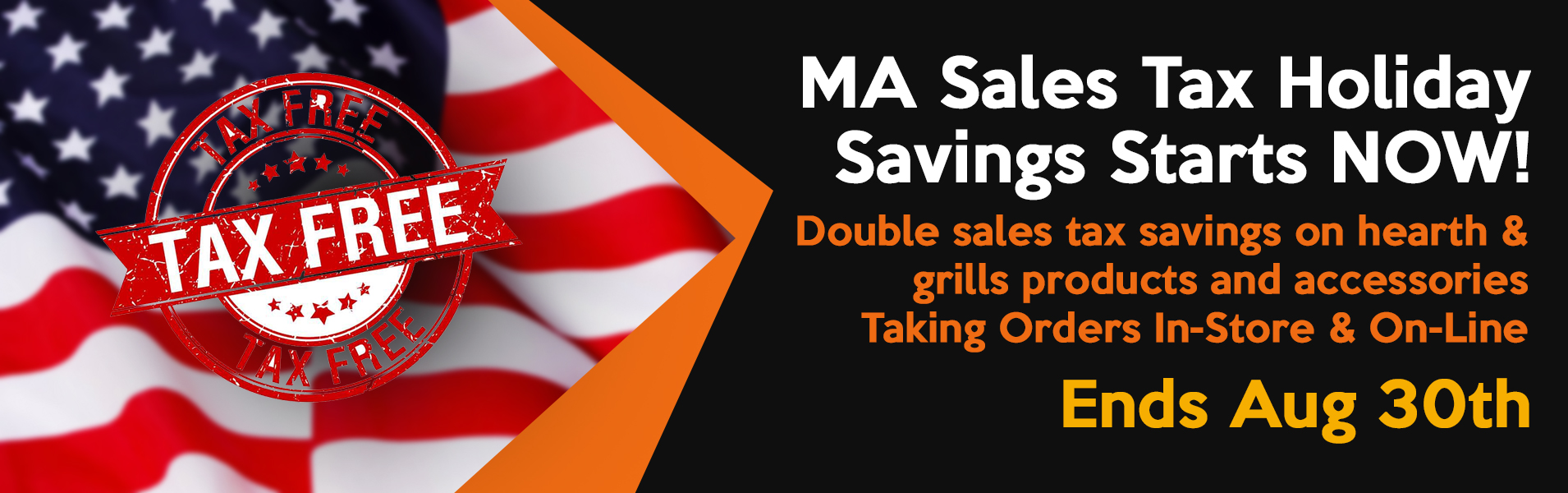 The Fireplace and Grill Center at West Sport - MA Sales Tax Holiday